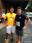 Dave and Justin after the race.