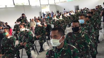 Pangdam I/BB Kunjungi dan Sapa Personel Rumah Sakit Khusus Infeksi Covid-19  (RSKI) Pulau Galang