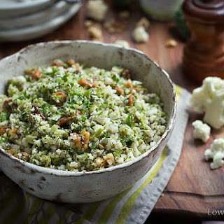 Riced Broccoli Cauliflower Salad.