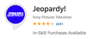 Favorite Alexa Apps: Jeopardy