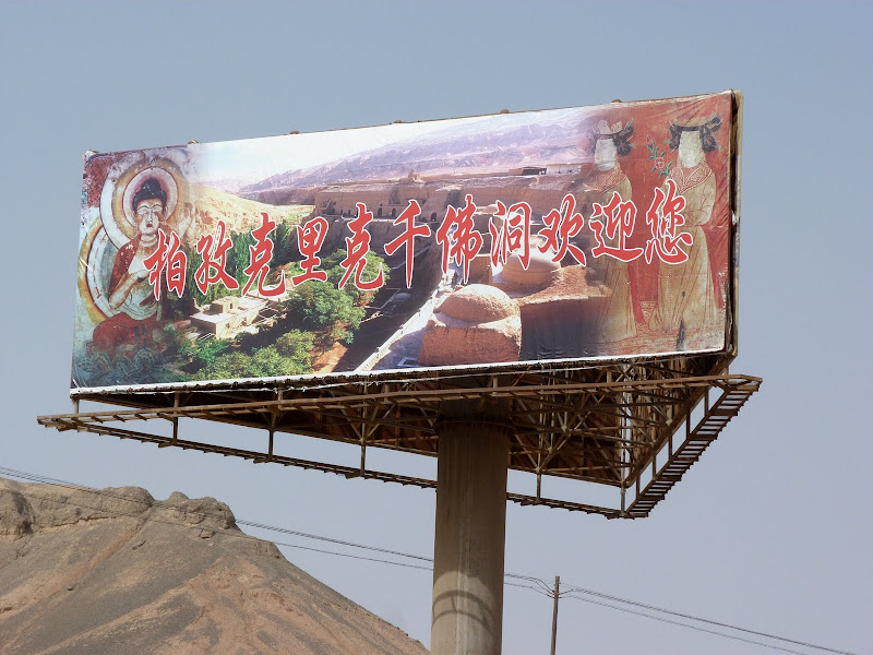 XINJIANG.  Turpan. Ancient city of Jiaohe, Flaming Mountains, Karez, Bezelik Thousand Budda caves - P1270903.JPG
