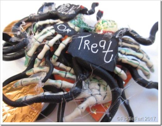 Halloween Spider and Creepy Hand Trick or Treat Door Plaque
