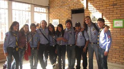 Algunos integrantes de la delegación Colombia al Jambol 2010.