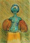 066 - Anaïs Bleue - 1995 41 x 29 - Pastel sur carton