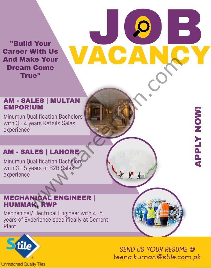 Shabbir Tiles and Ceramics Ltd Stile Jobs July 2021