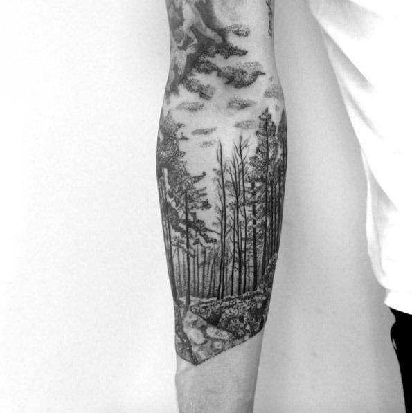 Este blackwork floresta