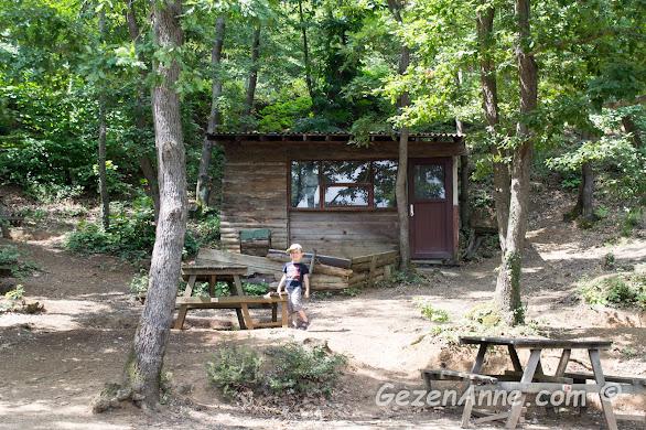 piknik alanının ağaç altı masaları, Karamandere Saklıgöl Şile