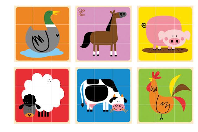 Ghép hình con vật Farm Animals Block Puzzle Hape