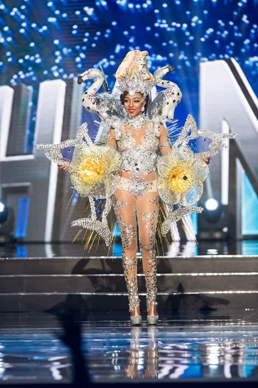 Cherell Williamson, Miss Bahamas 2016 debuts her National Costume on stage at the Mall of Asia Arena on Thursday, January 26, 2017.  The contestants have been touring, filming, rehearsing and preparing to compete for the Miss Universe crown in the Philippines.  Tune in to the FOX telecast at 7:00 PM ET live/PT tape-delayed on Sunday, January 29, live from the Philippines to see who will become Miss Universe. HO/The Miss Universe Organization