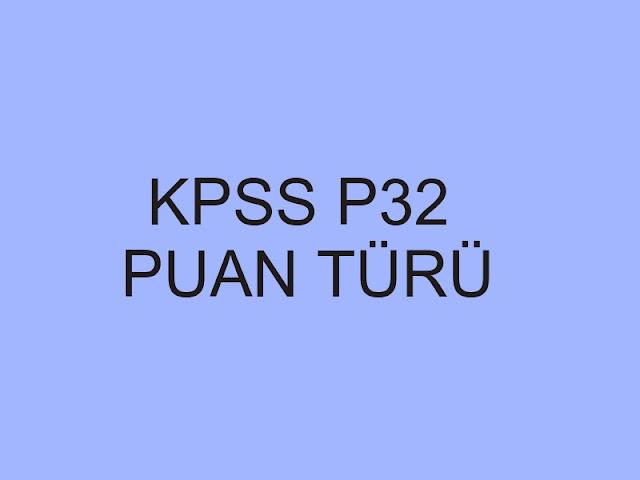 kpss p32 puan türü
