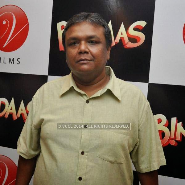 Indradeep Das Gupta during the premiere of bengali film Bindaas at Navina in Kolkata.