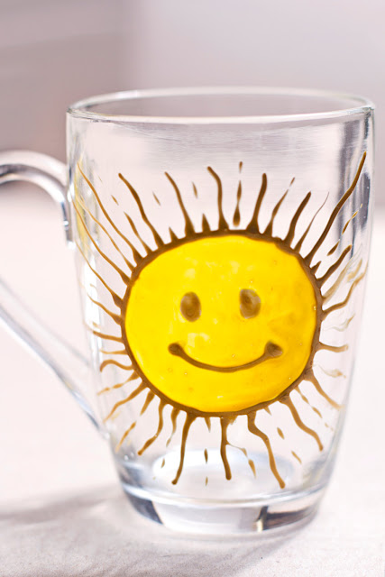Big Yellow Sun Handpainted Mug by zmeyssHandMade