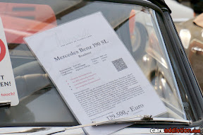 Mercedes Benz 190 SL price tag