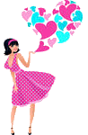 Mini Gifs  Stock-vector--s-woman-with-a-patterned-heart-34389898