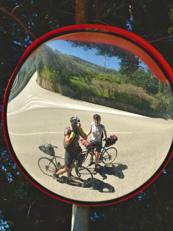Autoportret de biciclisti fotografi.