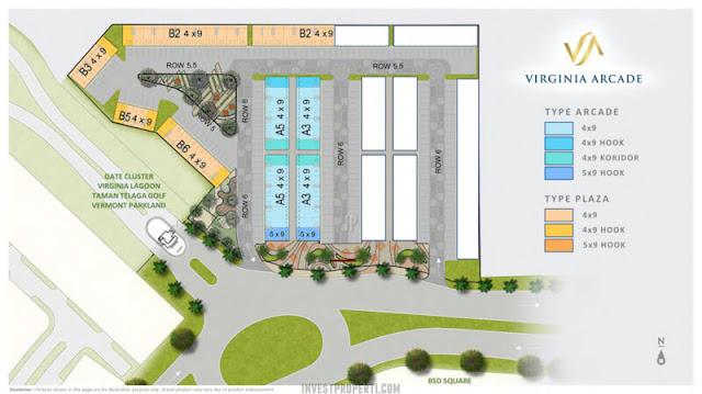 Siteplan Virginia Arcade BSD Tahap 1