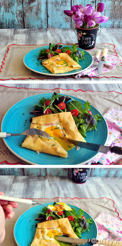 How to Make Ham and Egg Savory Crepes for Easter Sunday Brunch with Step-by-step video tutorial.  http://uTry.it