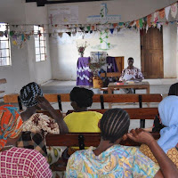 Michael Mashauri teaching during the recent health worker seminar
