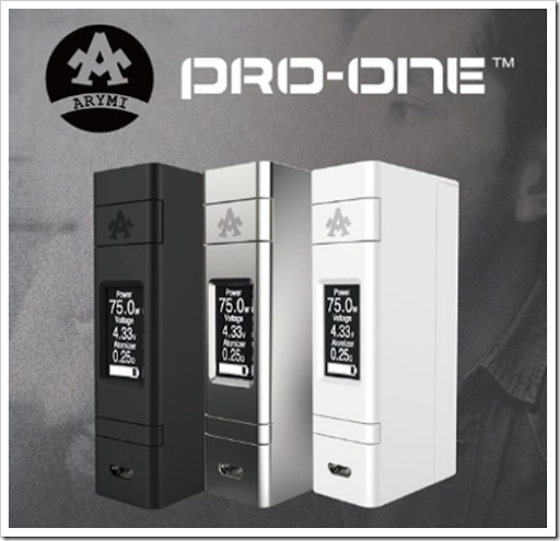 arymi pro one 75w tc box mod minimalist design thumb%25255B2%25255D.png - 【海外】「ARYMI Pro-one 75W」「Finestyle Eves Temptationリキッド」「UD Vapors Pack多機能バッグ」「Vapesoon MAMBAクリアロマイザートップエアフロー」【マクロスFの話】