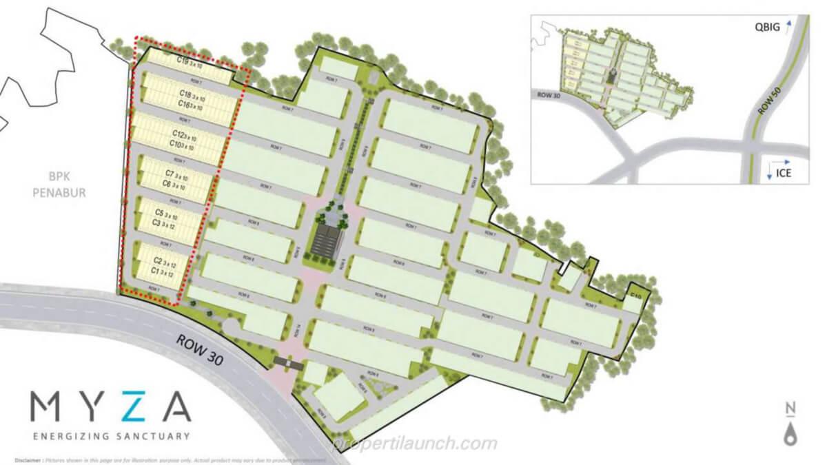 Siteplan Cluster Myza Flat House BSD