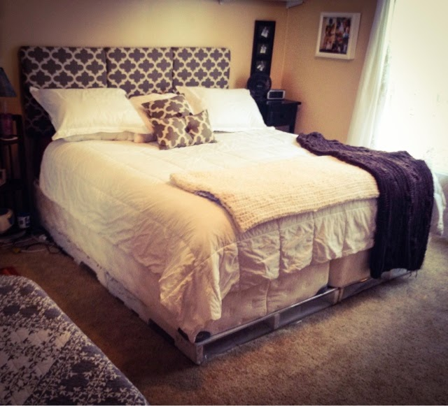 DIY King Headboard / Total King Size Bed Makeover For $82