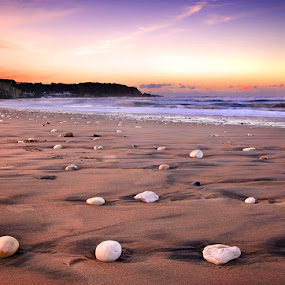 White Park Bay by Grzegorz Gluchy - Landscapes Beaches ( sand, ireland, sunse, beach, stones )