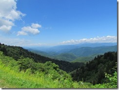 View from the parking lot of Waterrock Knob on BRP