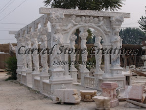 carved stone, Exterior, Gazebo, Gazebos, Ideas, Landscape Decor, Statue