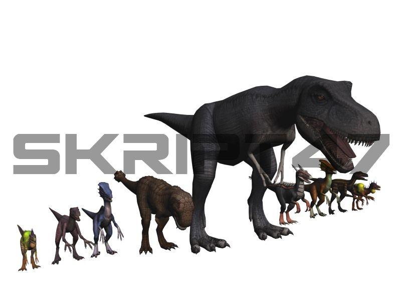 Dino Mod Velociraptor, T-Rex, Tank, Sting, Elite