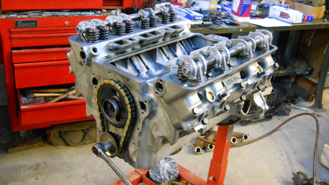 Roller timing chain installed.