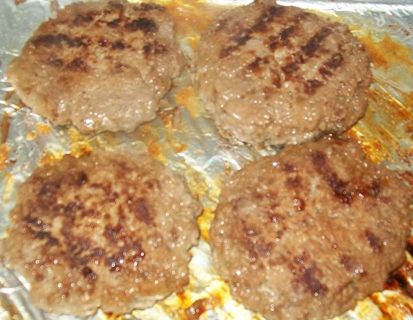 Mix this mixture quickly into the meat, and make 4 patties. You don't want...