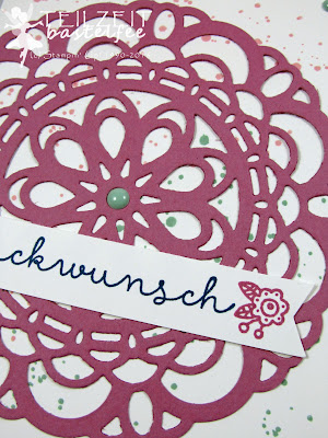 Stampin' Up! - In{k}spire_me #260, Color Challenge, InColors, Gorgeous Grunge, Landlust, Cottage Greetings, Sizzlits Large Paper Doily, Großes Zierdeckchen, Enamel Dots