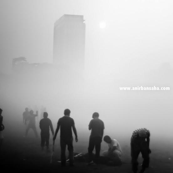Winter Kolkata, Mist Kolkata, Maidan morning