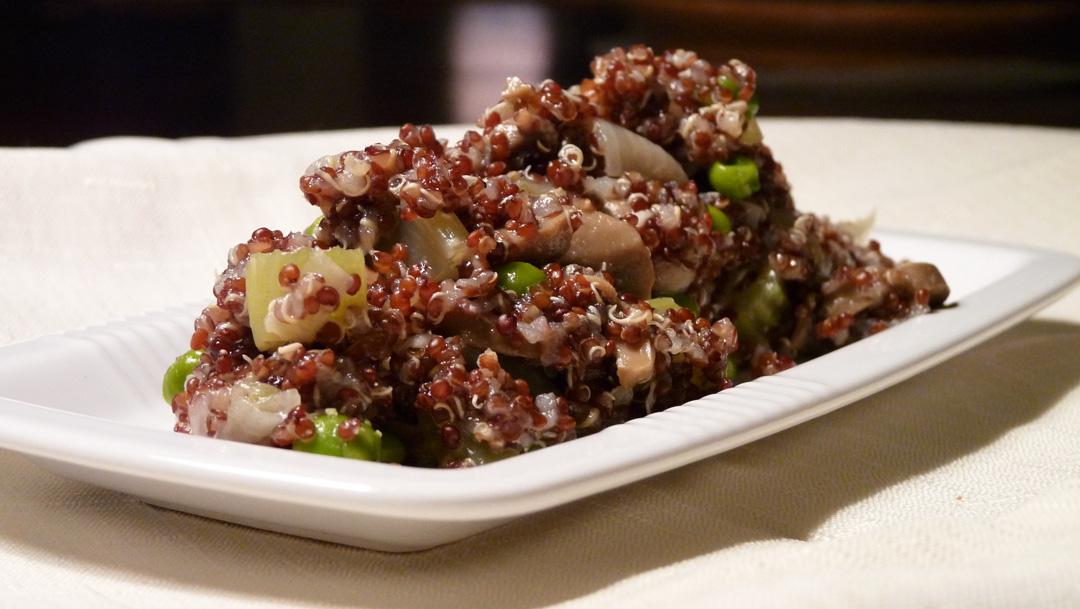 Libra Loves: Red Quinoa Mushroom Pilaf