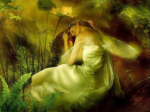 Green Sleeping Fairy, Fairies Girls