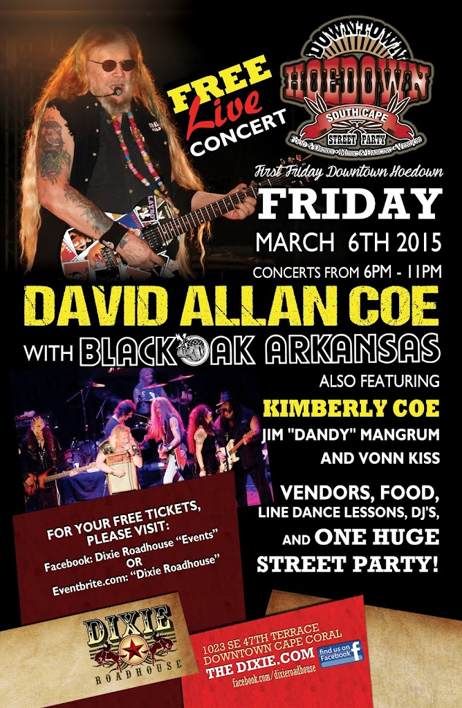 DRH David Allan Coe 11x17 FEB2015