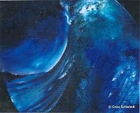 'Welle2', Öl auf Leinwand, 37x30, 2003, verkauft