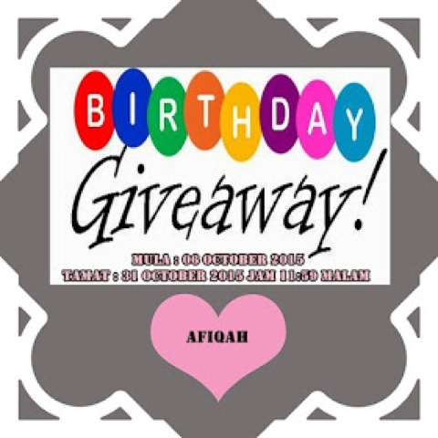 Giveaway My Birthday Giveaway by Afiqah