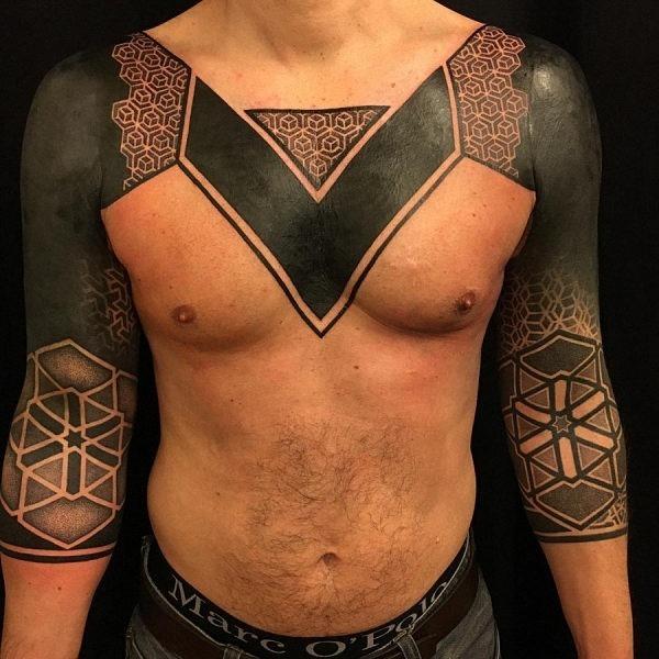 este_badass_blackout_desenho_de_tatuagem