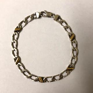 Tiffany & Co. Sterling & 18 K Gold Bracelet