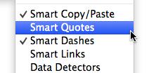 Smart quotes sudah non aktif