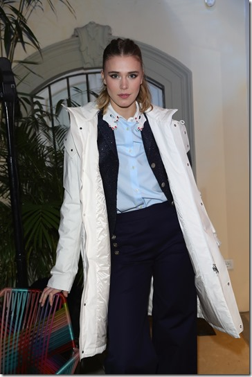 FLORENCE, ITALY - JANUARY 11:  Gaia Weiss attends The Icon Project Peuterey by LUISAVIAROMA on January 11, 2017 in Florence, Italy.  (Photo by Vittorio Zunino Celotto/Getty Images for LUISAVIAROMA)
