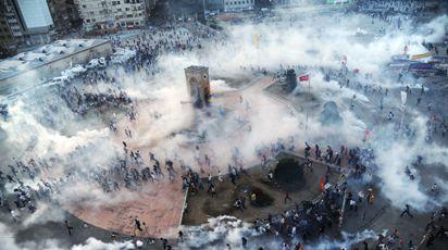 gases lacrimogenos en Turquía