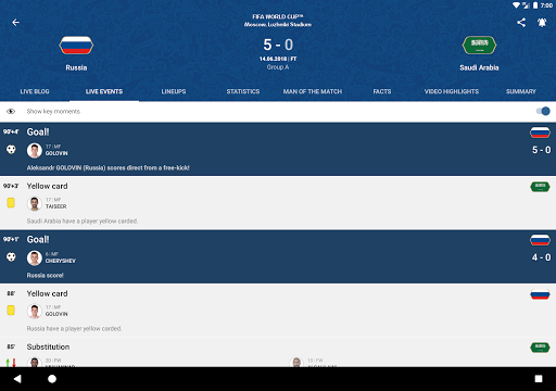 2018 FIFA World Cup Russiau2122 Official App  screenshots 7