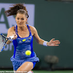 INDIAN WELLS, UNITED STATES - MARCH 18 : Agnieszka Radwanska in action at the 2016 BNP Paribas Open