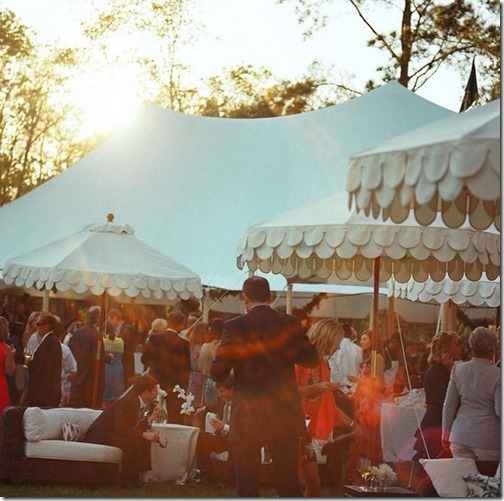 Custom Boutique Tents Cocktail Umbrellas | Colin Cowie Weddings | Photo by Liz Banfield