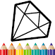 Diamond Coloring and Drawing for kids