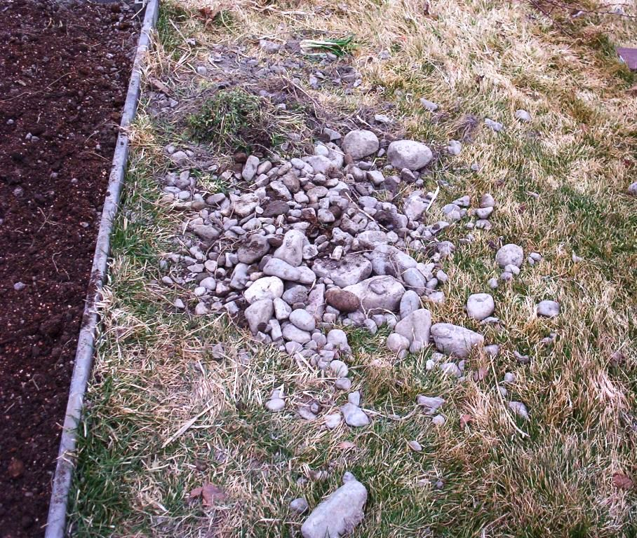 "Detail Of One Man Boulder Edging For Raised Beds: A Diary Of A Boring Person: True Meaning Of ""Rocky Mountains"""