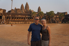 Sunset at Angkor Wat on our first day
