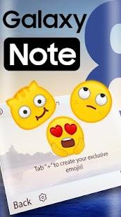 Samsung Note 8 Theme&Emoji Keyboard - náhled